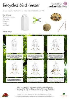 1000 images about bird hide on pinterest teaching for Making a bird feeder out of recycled materials
