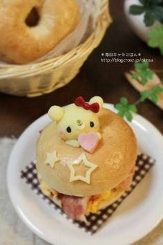 Bear Bagel sandwich