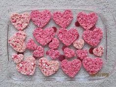 Pink Heart-Shaped Rice Krispie Treats, Krispie treats are my fav!
