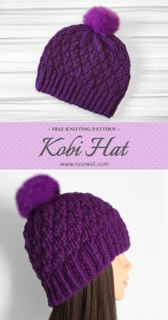 New Crochet Knit Hat Beanie Pattern Ideas Baby Knitting Patterns, Loom Knitting, Free Knitting, Loom Knit Hat, Knitting Sweaters, Knitting Ideas, Knitting Projects, Crochet Beanie, Knit Or Crochet