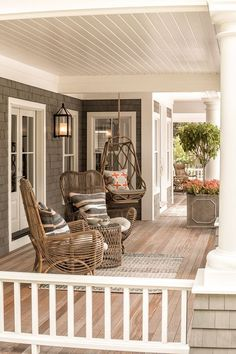 Do you need inspiration to make some DIY Farmhouse Front Porch Decorating Ideas in your Home? When you are trying to create your own unique Farmhouse Front Porch design, you will want to use ideas from those that are… Continue Reading → Veranda Design, Veranda Ideas, Farmhouse Front Porches, Rustic Farmhouse, Southern Front Porches, Small Porches, Country Porches, Farmhouse Style, Back Porches