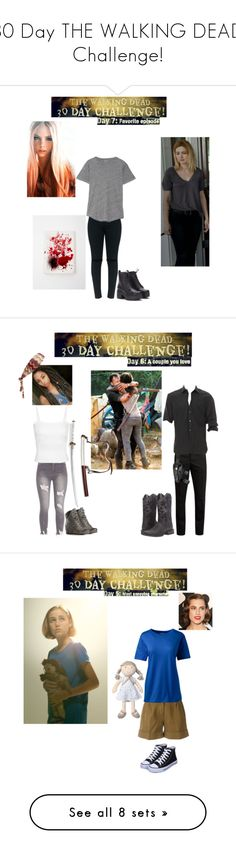 """""""30 Day THE WALKING DEAD Challenge!"""" by batgirl-at-the-disco3 ❤ liked on Polyvore featuring art, SOREL, Missoni, Yves Saint Laurent, John Varvatos, Ariat, Aspesi, Lands' End, Natures Purest and annoying"""