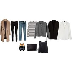 Winter french by trenchcoatandcoffee on Polyvore featuring moda, Theory, Saint James, rag & bone/JEAN, Maison Margiela, Dieppa Restrepo and Zara