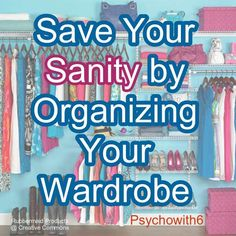While you are switching out your winter gear for spring clothes take a few extra minutes to really organize your wardrobe How To Organize Your Closet, Organizing Your Home, Household Organization, Closet Organization, Clean Bedroom, Save Yourself, Getting Organized, Homemaking, Good To Know