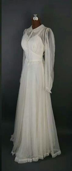 Chiffon wedding gown 1940's.