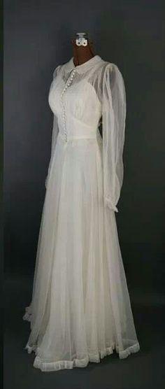 Chiffon wedding gown 1940's.