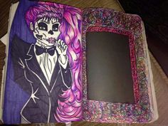 Wreck this journal page, scribble down the sides of this book, monster high theme...♥
