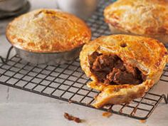 Better homes and gardens easy meat pies. Could use store bought puff pastry or pie crust to make it even easier