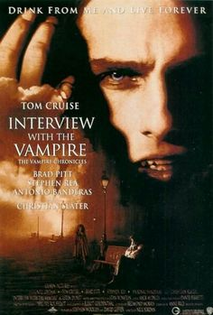 Entrevista con un vampiro - Interviuw with the vampire Chistian Slater Brad Pitt Tom Cruise Antonio Banderas 1994 Neil Jordan Based novel Anne Rice