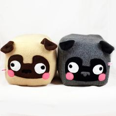 ♥ ITEM DESCRIPTION ♥ This listing is for 1 Pug cube plushie,of your choosing ! Please choose from the drop down menu which pug youd like to receive : 1