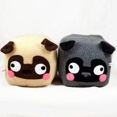 Big PUG cube plushie by Plusheez on Etsy