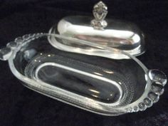Vintage Candlewick Glass Butter Dish with by MyLittleSomethings, $23.00