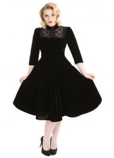 Nightshade Gothic Velvet Dress