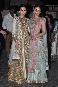 Kapoor sisters: Karisma and Kareena Kapoor Khan in Manish Malhotra http://www.vogue.in/content/best-dressed-week-182#1