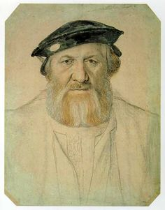 Hans Holbein the Younger  1497-1543]; the gruffness of his facial expression and detail in the facial region