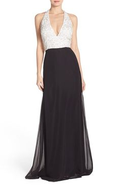 Aidan Mattox Colorblock Georgette Gown available at #Nordstrom