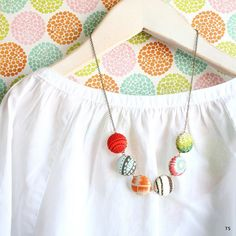The Modern Button Necklace