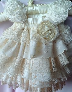 Items similar to Flower Girl,Ivory Ruffled vintage lace . Birthday, special occasion Dress by Rosanna Hope for Babybonbons on Etsy : IVory Ruffled vintage lace Custom Flower girl or Birthday, special occasion Dress by Rosanna Hope for Babybonbons Toddler Dress, Baby Dress, Angel Gowns, Little Girl Dresses, Vintage Flower Girl Dresses, Girls Dresses, Creation Couture, Christening Gowns, Little Fashionista