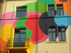 painted house in Basel, detail by m.a.r.c., via Flickr