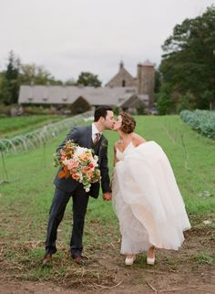 A. I love this oversized lush garden bouquet and B. I love that they got married at Blue Hill in the NY Hudson Valley-a sustainable farm + restaurant  Photography by Bryce Covey Photography / brycecoveyphotography.com, Photography by Robert Sukrachand / sukrachandwedding.blogspot.com, Floral Design by Poppies and Posies / poppiesandposies.com