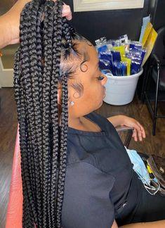 Big Box Braids Hairstyles, Hair Ponytail Styles, Braids Hairstyles Pictures, Braided Hairstyles For Black Women, African Braids Hairstyles, Baddie Hairstyles, Braids For Black Hair, Curly Hair Styles, Natural Hair Styles