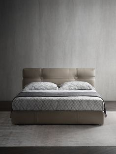 Double Bed / Contemporary / With Upholstered Headboard / Upholstered MINIMAL  Dallu0027Agnese Industria Mobili | 卧室 | Pinterest | Double Beds, Minimal And ...