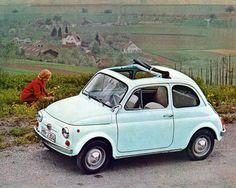 1969 Fiat 500S Automobile Photo Poster
