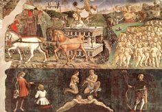 Allegory of May: Triumph of Apollo - Francesco Del Cossa - Mythological Painting Art 1476-84 Technique :Fresco, 216 x 320 cm Type :mythological Form :painting Location :Palazzo Schifanoia, Ferrara