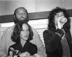 A newly released photo of Lisa Robinson backstage with Led Zeppelin from her forthcoming book
