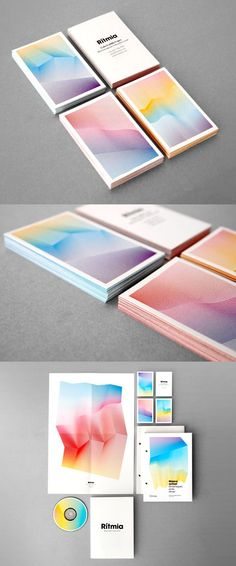 Rítmia's Elegant Business Card & Identity. Simply stunning use of colour and… - corporate branding design Corporate Design, Brand Identity Design, Corporate Identity, Graphic Design Typography, Visual Identity, Business Card Design, Identity Branding, Web Design, Logo Design