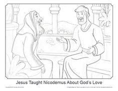 Simple Bible Coloring Pages on Sunday School Zone. Click Pin for website access.