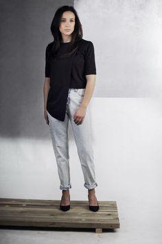 T - shirt Overlay Black  Collection AW 15/16 Reinkreacja  shop online  reinkreacja.com