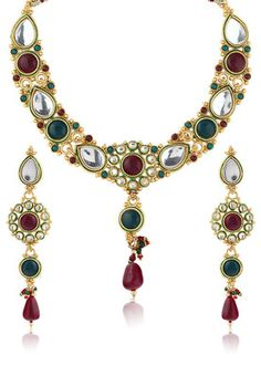 Kundan Highlited Necklace Set #MyYDHDLook