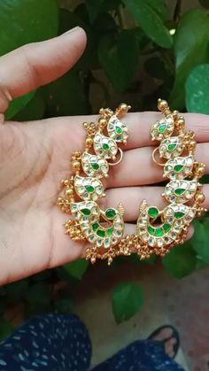 India Jewelry, Ethnic Jewelry, Jewellery, Jewelry Design Earrings, Diamond Jewelry, Bottle Garden, Gold Polish, Ear Studs, Antiques