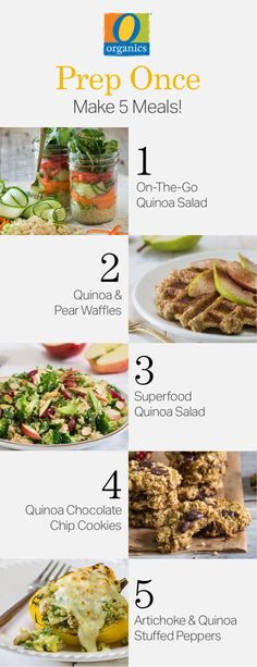 Make your week simple with five healthy meal prep recipes made with O Organics® quinoa!