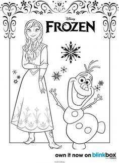 Frozen Coloring Pages 3  Frozen Party  Pinterest  Disney