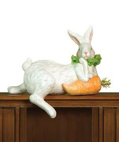 Rabbit & Carrot Statue by Bring In Spring