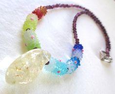 Crystal Garnet Necklace by guarnaccia on Etsy