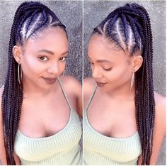 Make The Perfect Ponytail & Cornrows for an elegant & fun protective style Protective Braids, Protective Hairstyles For Natural Hair, Natural Hair Styles, Protective Styles, Cornrow Ponytail, Cornrows, Twist Hairstyles, Cool Hairstyles, Black Hairstyles