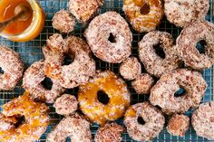 3 recipes from our staff, including these apple cider doughnuts on The Table. Doughnuts, Apple Cider, Bagel, Harvest, Halloween, Eat, Desserts, Recipes, Food