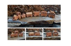 Train, Redwood, Heirloom And Handmade, Toy Train, Magnetic Connectors