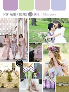 Lilac Love wedding inspiration in green and purple pastels. Hello spring!