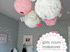 A girl and a glue gun: the girls room...so many amazing tutorial links in this post!