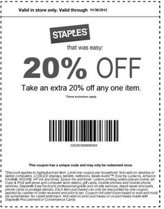 image regarding Staples Printable Coupon called 21 Simplest Coupon codes pics inside of 2013 Discount coupons, Printable coupon codes