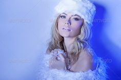 Seductive beautiful woman in winter blue ...  alluring, beautiful, beauty, blond, blue, cold, coquette, fashion, female, femininity, flirting, glamorous, glamour, hat, inviting, person, portrait, provocative, seduction, seductive, sensual, sexy, stylish, tease, temptation, trendy, winter, woman, young, youthful