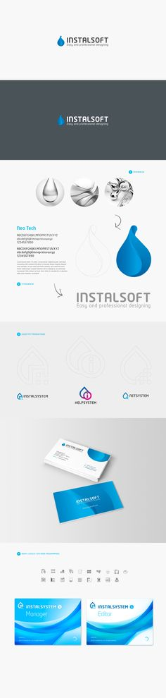 Logo design for INSTALSOFT and its brands Graphic Projects, Corporate Identity, Layouts, Logo Design, Branding, Concept, Map, Logos, Brand Management