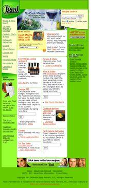 Food Network in 2001   Web Design Museum