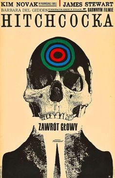 VERTIGO   11x17   NON-LAMINATED  POLISH Movie Poster