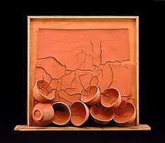 "NTS: The most representative Margaret Boozer work i've seen. ""The Clay's the Thing"" article provides useful insight into her thinking about clay and her process.  ~  Margaret Boozer, Eight Red Bowls, 2005, Maryland terra cotta and pine, 11 1/4 x 27 x 5 3/8 in., Smithsonian American Art Museum, purchase through the Richard T. Evans Fund, 2001.9"