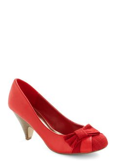 You have a knack for discovering lovely pieces that lend classy dimension to your style. Take these ruby-red heels for example which possess a subtle flair in ...